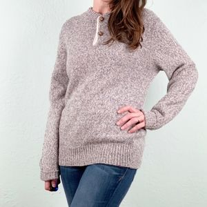 Vintage | Speckled Wool Two-Button Grandpa Sweater